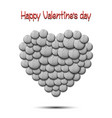 happy valentines day heart from the golf balls vector image