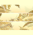 horizontal banners of many different grass vector image vector image