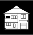 house white color icon vector image