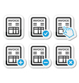 Invoice finance icons set vector image vector image