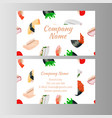 japanese cuisine restaurant business card vector image vector image