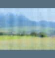 landscape mosaic vector image vector image