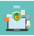 laptop cyber security system design vector image vector image