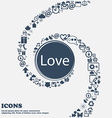 Love you sign icon Valentines day symbol in the vector image