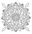 mandala for coloring vector image