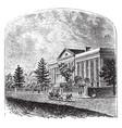 marine hospital vintage vector image vector image