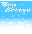 Marry christmas on winter bacground vector image