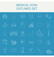 Medical and healthcare icon set vector image
