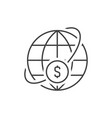 money world transfer vector image