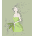 nature girl vector image vector image