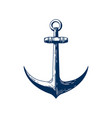 old sea anchor hand drawn vector image vector image