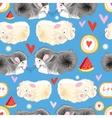 pattern enamored hamster vector image vector image