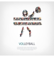 people sports volleyball vector image vector image