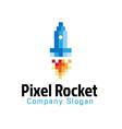 Pixel Rocket Design vector image vector image