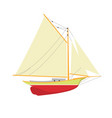 sailboat or yacht side view - sailer out of water vector image vector image