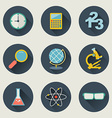 School and education icons flat design set vector image vector image