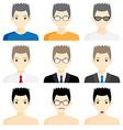 set avatar man cartoon picture profile business vector image vector image