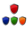 shields icons vector image vector image