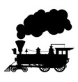 silhouette steam locomotive vector image vector image