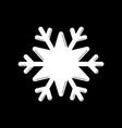 snowflake white icon cartoon snow flake sign vector image vector image