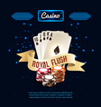 stylish casino realistic composition vector image vector image