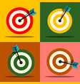 target icons set vector image