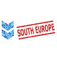 textured south europe stamp and shift down mosaic vector image vector image