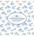 the oysters farm abstract sign symbol or vector image vector image