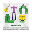 travel portugal concept banner template in flat vector image