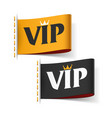vip labels vector image