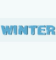 winter blue lettering in capital letters vector image vector image