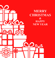 xmas gift card red vector image