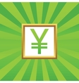 Yen picture icon vector image vector image