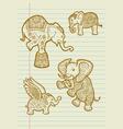 Decorative Elephant Sketches vector image