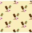 icecream seamless pattern vector image