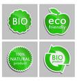 green sticker natural bio eco product set vector image