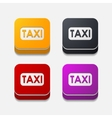 square button taxi vector image