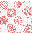 a seamless pattern for artificial intelligence vector image