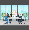 arab muslim business people group presentation in vector image vector image