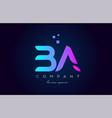 ba b a alphabet letter logo icon combination