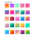 beautiful color gradient collection gradients vector image vector image