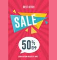 best offer sale flyer template vector image vector image