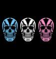 bizarre dead heads vector image