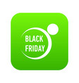 black friday icon simple style vector image vector image