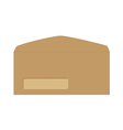 Brown opened envelope vector image vector image