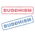 buddhism textile stamps vector image vector image