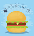 burger for family summer picnic vector image vector image