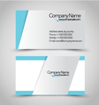 Business card set template Blue and silver color vector image