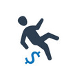 businessman falling icon vector image