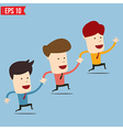 Businessman run together - - EPS10 vector image vector image